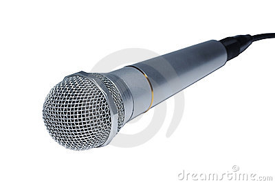 Silver audio microphone