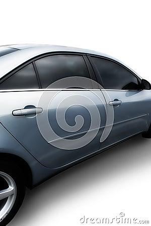 Silver Automobile on white