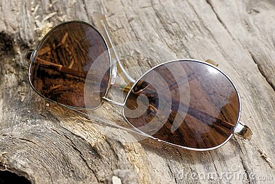 Silver Aviator Sunglasses On Top Of Wooden Surface Free Public Domain Cc0 Image