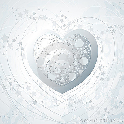 Silver background with heart