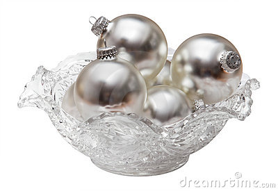 Silver Balls in a Cut Glass Bowl