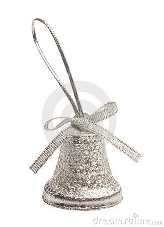 Free Silver Bell Christmas Isolated Stock Photo - 11310150