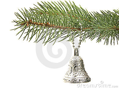 Silver bell decoration
