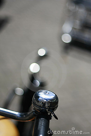 Silver bicycle bell