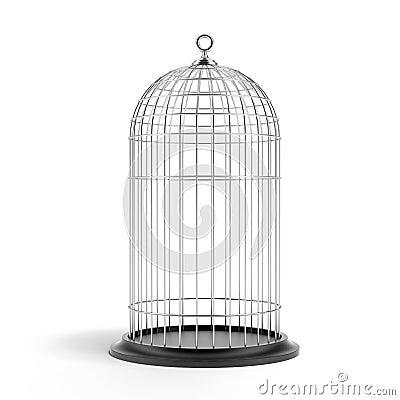 Free Silver Bird Cage Stock Image - 28111171