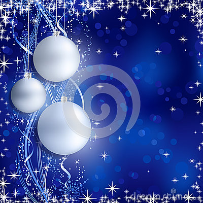 Silver blue Christmas background