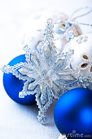 Silver and blue christmas decoration