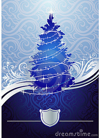Silver-blue christmas tree