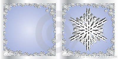 Silver Blue Greetings card Snowflake