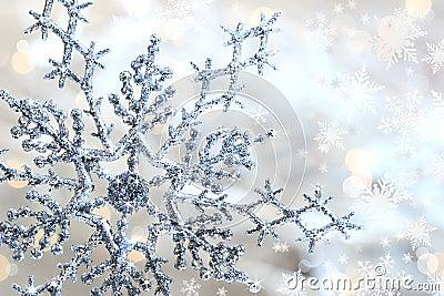 Silver blue snowflake 1