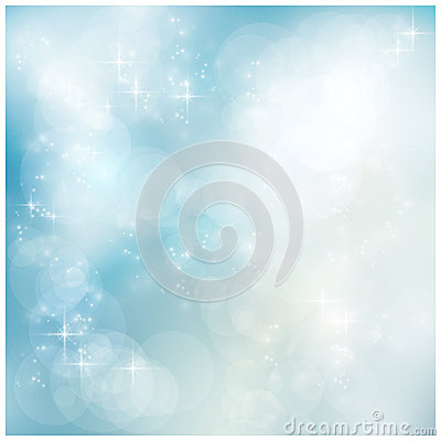 Free Silver Blue Winter, Christmas Bokeh Stock Photography - 26652912