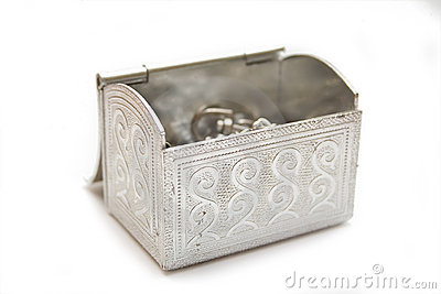 Silver box for gifts