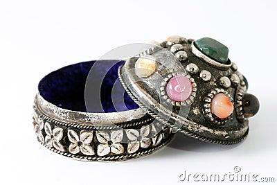 Silver box on jewellery