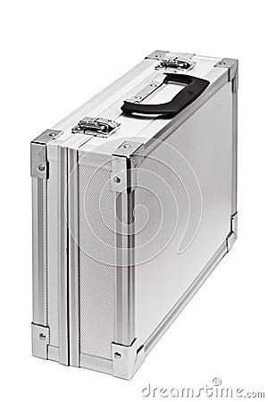Silver briefcase