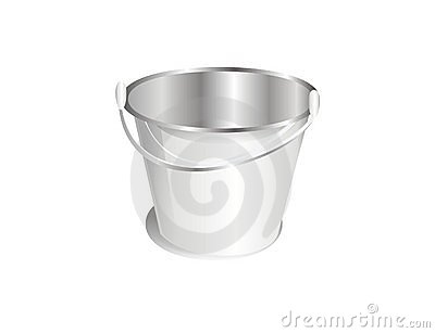 A silver bucket