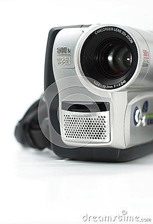 Silver camcorder