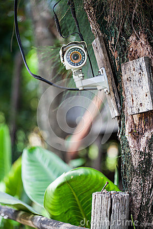Silver CCTV Camera