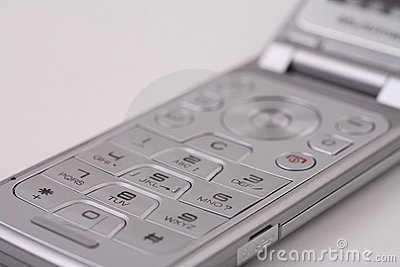 Silver Cellphone Keypad