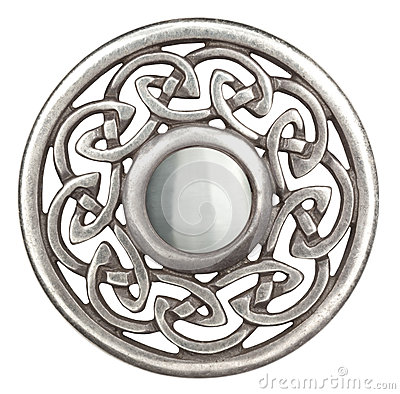 Free Silver Celtic Brooch Stock Photography - 25787652