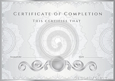 Silver Certificate / Diploma Background (template) Royalty ...