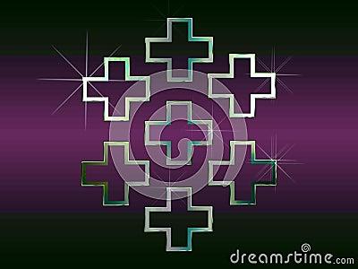 Silver Christian crosses
