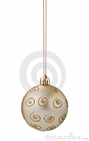 Silver christmas ball cutout