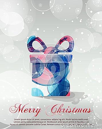 Silver Christmas card