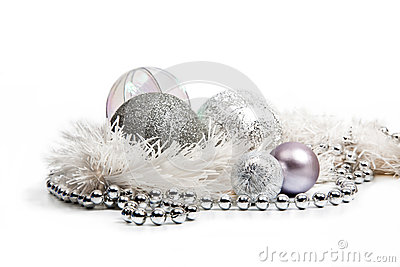 silver christmas decoration my web value