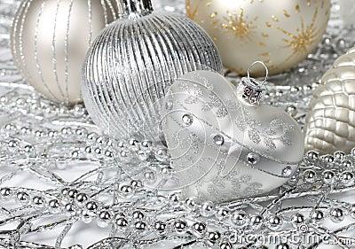Silver Christmas heart