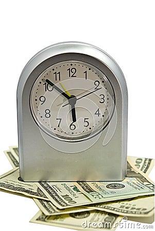 Silver Clock/Money/Time Concept