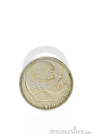 Silver Coin Depicting Lenin