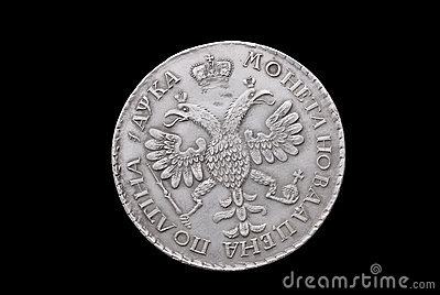 Old Russian silver coin