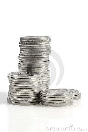 Free Silver Coins Royalty Free Stock Images - 4864179