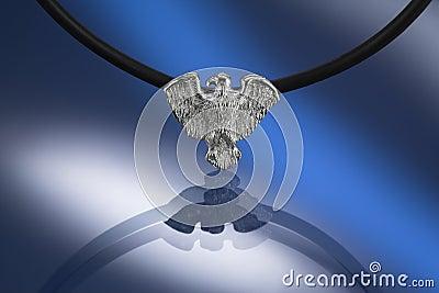 Silver condor pendant
