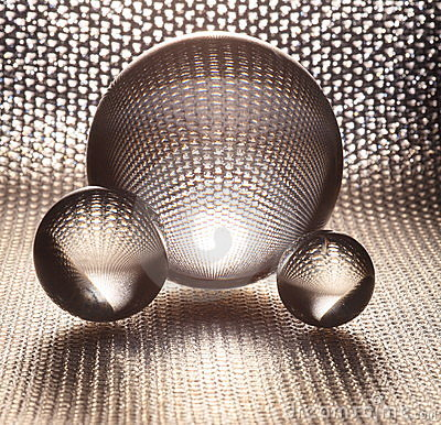 Free Silver Crystal Glass Balls Royalty Free Stock Image - 9536486