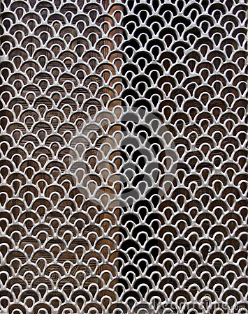 A decorative metal mesh