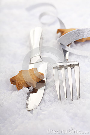 Silver Cutlery with a bow