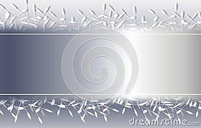 Silver Decorative Christmas Background Border