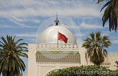 Silver dome mosque Sousse Tunisia Africa