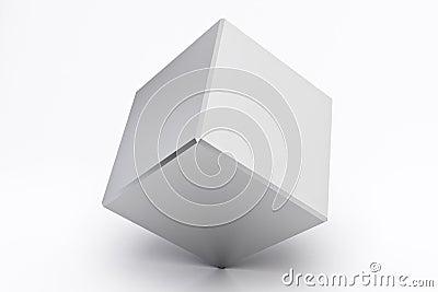 Silver empty cube