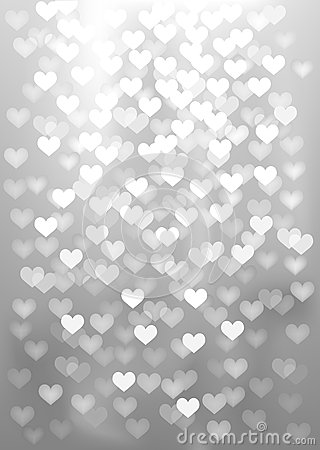 silver festive lights in heart shape vector stock vector