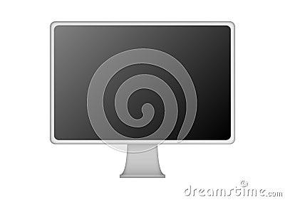 Silver Flat Screen
