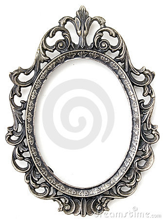 Free Silver Floral Frame Royalty Free Stock Images - 12226249