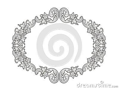 Silver floral frame