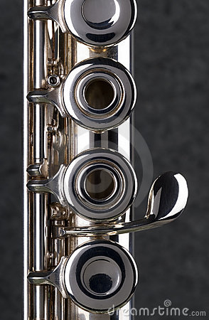 Free Silver Flute. Royalty Free Stock Photos - 1874318