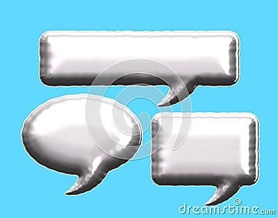 Blank foil balloone silver message bubble