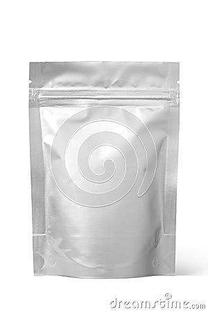 Free Silver Foil Zipper Bag Packaging Stock Photo - 106246470