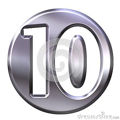 Silver Framed Number 10