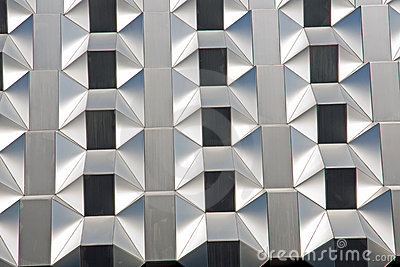 Silver futuristic facade