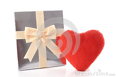 Silver gift and Heart